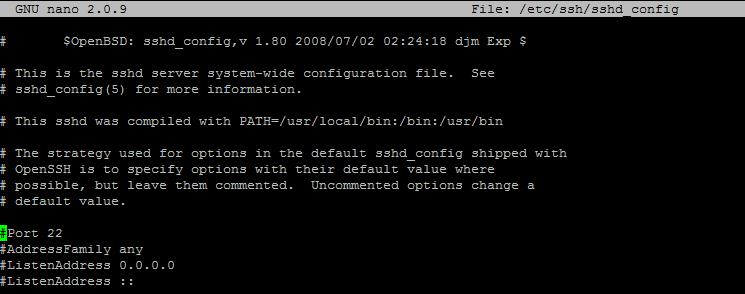 ssh_port (linux) değiştirme