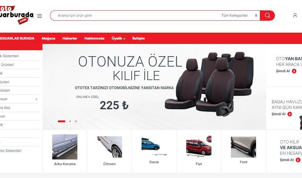 www.otoaksesuarburada.com- Eticaret sitesi hizmete girdi